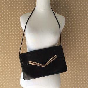 Authentic vintage navy blue handbag shoulder bag
